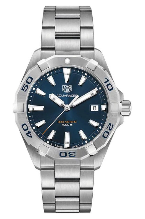 TAG Heuer Aquaracer Blue Brushed Dial Men's Watch-WBD1112.BA0928