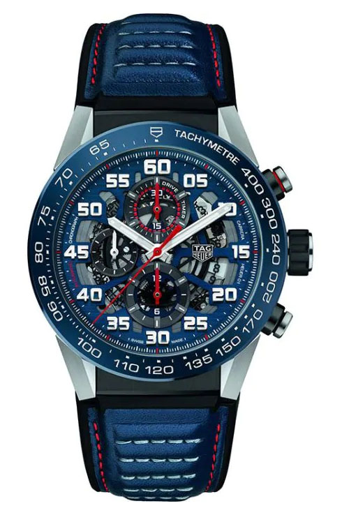 Tag Heuer Carrera Caliber Heuer 01 Skeleton 45 mm Men's Watch-CAR2A1N.FT6100