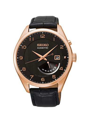 Seiko Kinetic Black Dial Men's Watch SRN054P1-SRN054P1