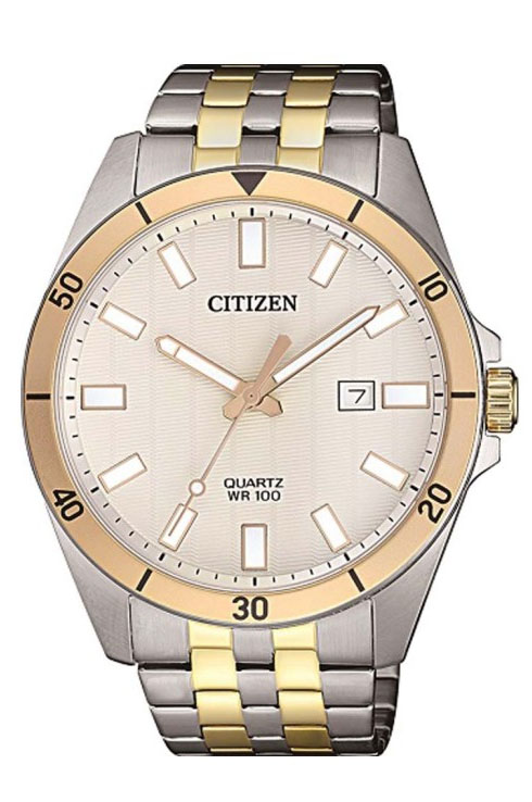 Citizen Quartz Beige Dial Men's Watch BI5056-58A-BI5056-58A