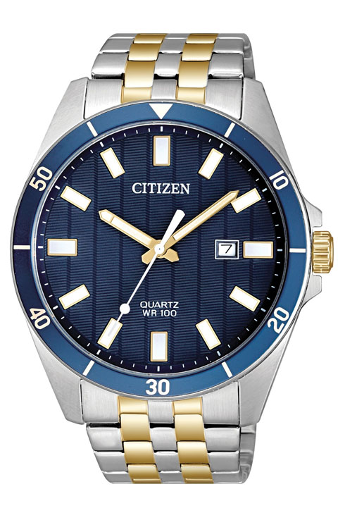 Citizen Dress Quartz Blue Dial BI5054-53L Watch For Men-BI5054-53L