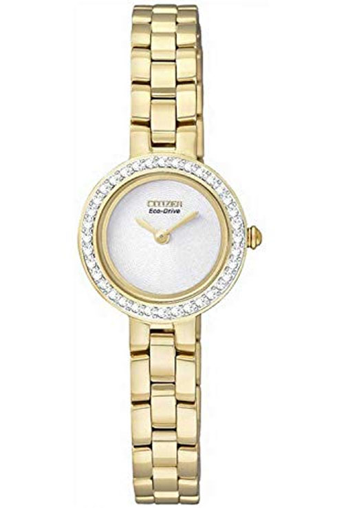 Citizen Eco-Drive White Dial EX1082-51A Watch For Women-EX1082-51A