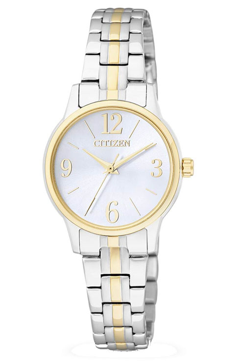 citizen dress quartz silver dial ex0294-58h watch for women-EX0294-58H