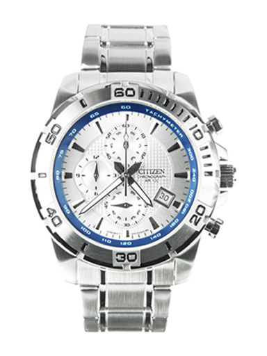 Citizen Promaster Chronograph White Dial AN3490-55A Men's Watch-AN3490-55A