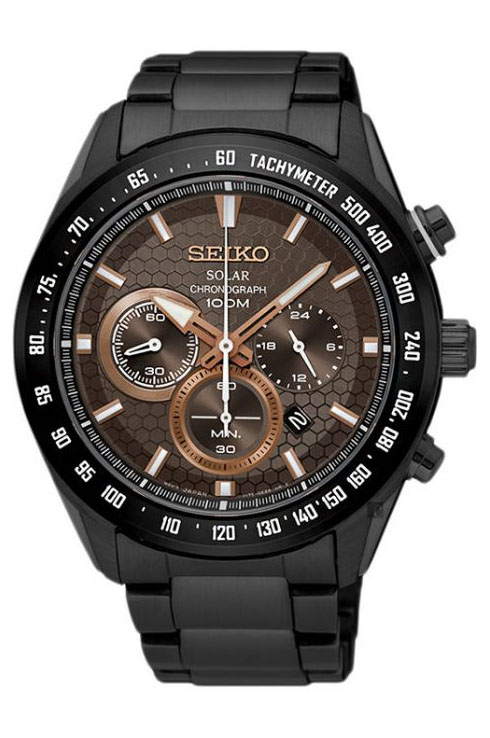 Seiko Criteria Chronograph Brown Dial SSC587P1 Watch for Men-SSC587P1