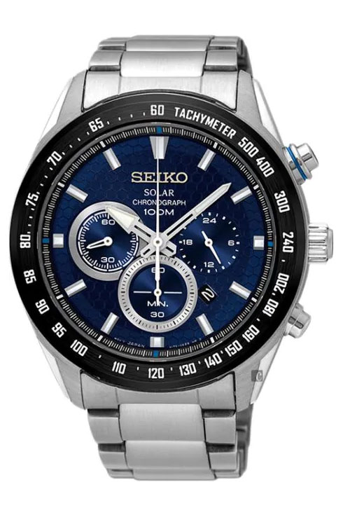 Seiko Criteria Chronograph Blue Dial SSC585P1 Watch For Men-SSC585P1