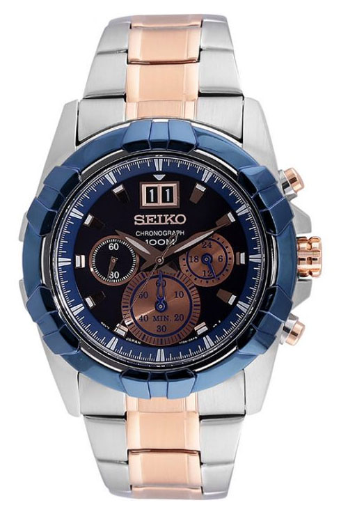 Seiko Lord Chronograph Blue Dial Men's Watch SPC227P1-SPC227P1