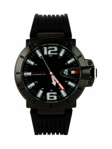 Tommy Hilfiger Black Dial Silicon Strap NTH1790747/D Men's Watch-NTH1790747/D
