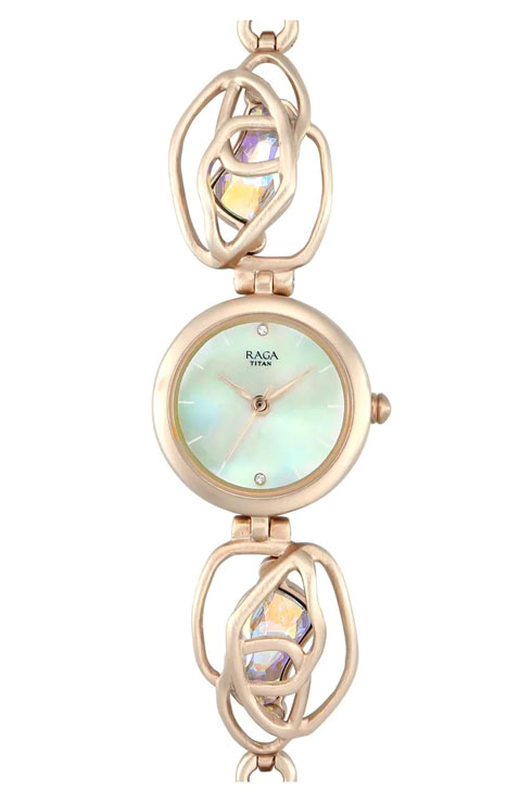 Titan Tangle By Raga Mother Of Pearl Dial Women's Watch 95099WM01-95099WM01