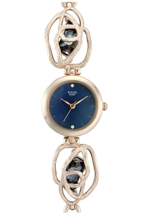 Titan Tangle By Raga Blue Mother Of Pearl Dial Women's Watch 95099WM02-95099WM02