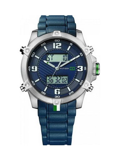 Tommy Hilfiger Blue Dial Silicon Strap NTH1790784/D Men's Watch-NTH1790784/D