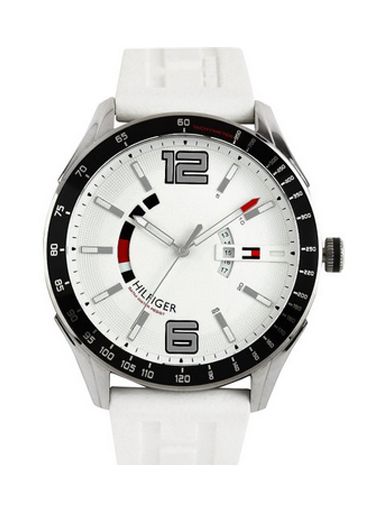 Tommy Hilfiger White Dial Silicon Strap NTH1790798J Men's Watch-NTH1790798J