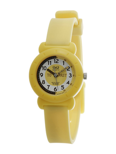 Q&Q White Dial Children's Analog Watch-VP81J012Y
