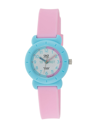 Q&Q Analog Pink Colour Children's Watch-VP81J019Y