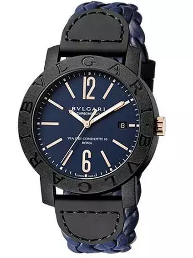 bvlgari 102634 blue dial automatic mens watch-102634