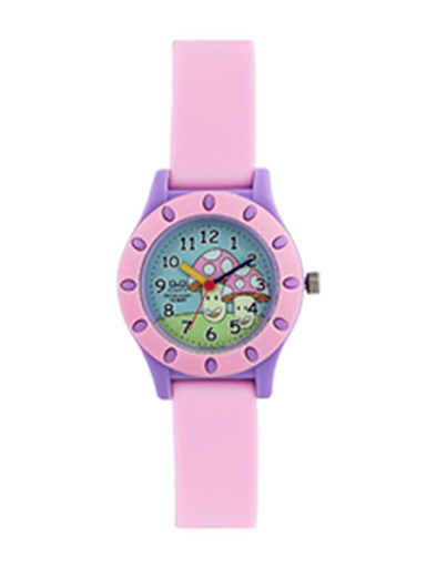 Q&Q Analog Pink Dial Girls's Watch-VQ13-009