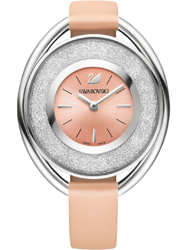 Swarovski Crystalline Oval Light Rose Ladies Watch-SW5158546