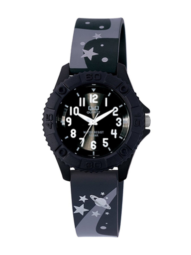 Q&Q Pixie Analog Black Dial Children's Watch-VQ96J014Y