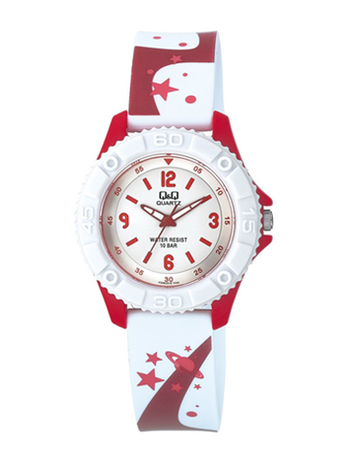 Q&Q Pixie Analog White Colour Dial Children's Watch-VQ96J016Y