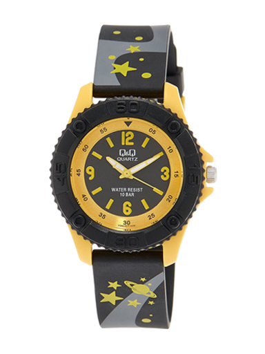 Q&Q Pixie Black Dial Children's Analog Watch-VQ96J017Y