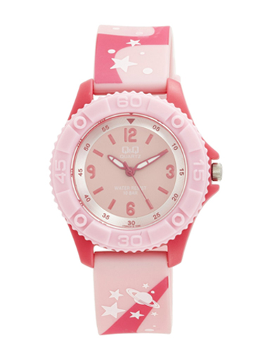 Q&Q Pixie Analog Pink Dial Children's Watch -VQ96J019Y