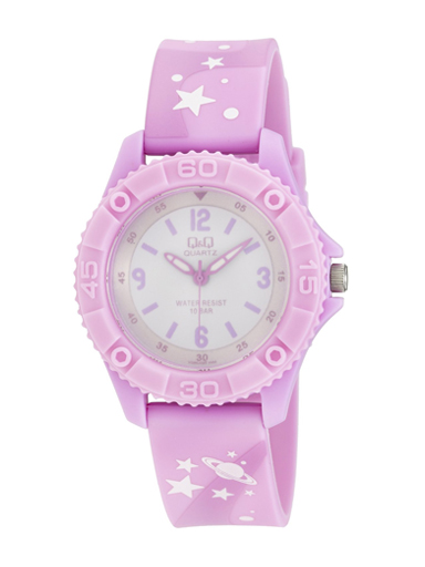 Q&Q Pixie White Dial Children's Analog Watch-VQ96J020Y