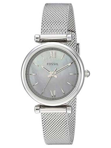 fossil carlie mini three-hand stainless steel women watch-ES4432I