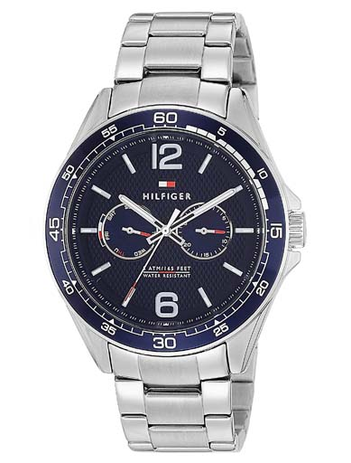 Tommy Hilfiger Blue Dial Silver Stainless Steel Strap TH1791366J Men's Watch-TH1791366J