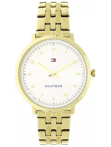 Tommy Hilfiger Silver Dial Golden Stainless Steel Strap TH1781761 Women's Watch-TH1781761