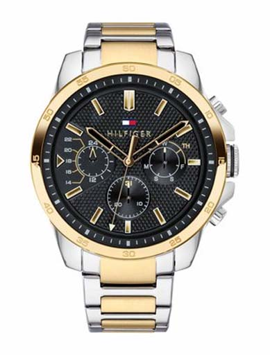 tommy hilfiger black dial multi-function th1791559 men's watch-TH1791559