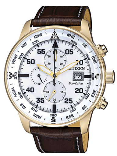 Citizen Eco-Drive Chronograph White Dial Men's Watch CA0693-12A-CA0693-12A