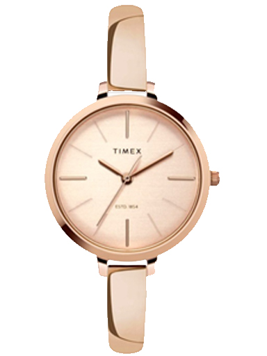 timex fashion rose gold dial women watch twel12803-TWEL12803
