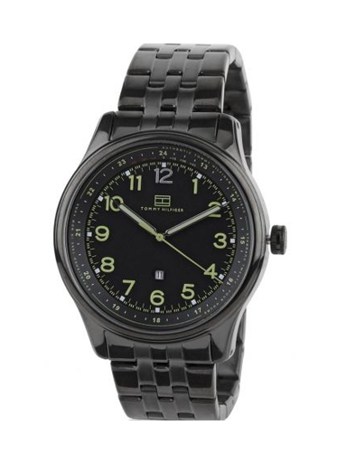 Tommy Hilfiger Black Dial Black Metal TH1710307/D Men's Watch-TH1710307/D
