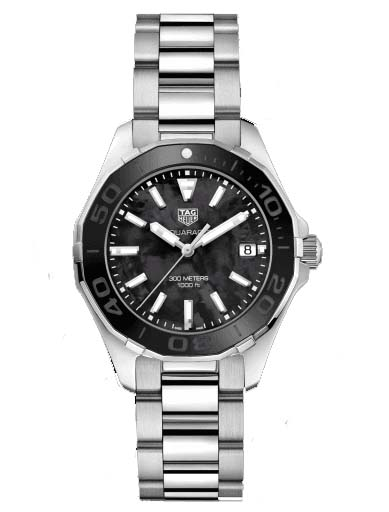 Tag Heuer Aquaracer Black Mother of Pearl Dial Ladies Watch-WAY131K.BA0748