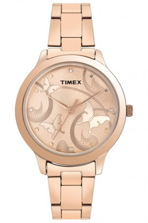 Timex Fashion Rose Gold Dial Women Watch TW000T610-TW000T610