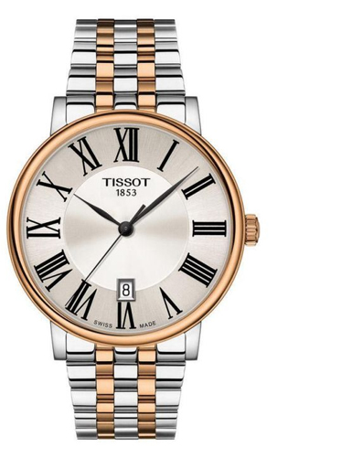 Tissot Carson Premium Stainless Steel Silver Dial Men's Watch-T122.410.22.033.00