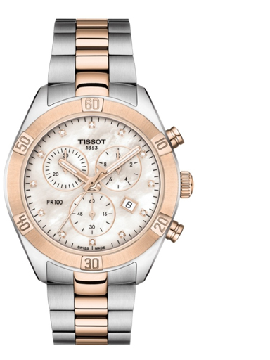 Tissot  PR100 Sport Chic Chronograph Pink MOP Women's Watch-T1019172215100