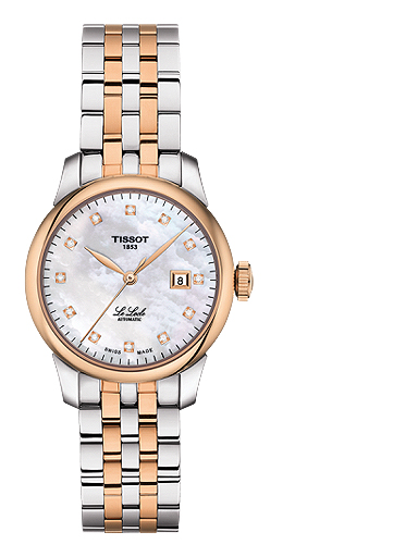 Tissot Le Locle Automatic White MOP Dial Stainless Steel Women's Watch-T0062072211600