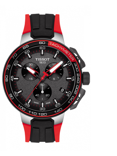 Tissot T-Race Cycling Chronograph Quartz Silicon Strap Men's Watch-T1114172744100