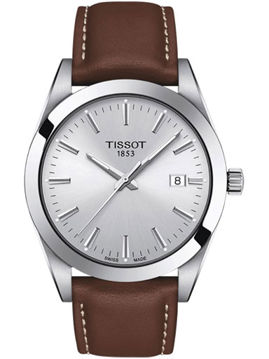 tissot gentleman quartz silver dial watch-T1274101603100