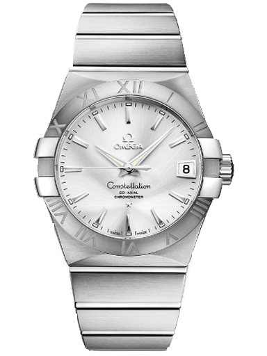 Omega Constellation 38 mm Automatic Steel Silver Dial Men's Watch-O12310382102001
