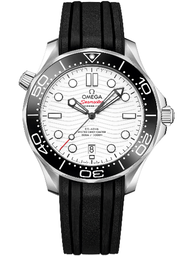 Omega Seamaster Diver 300M Co-Axial Master Chronometer White Dial Watch For Men-O21032422004001