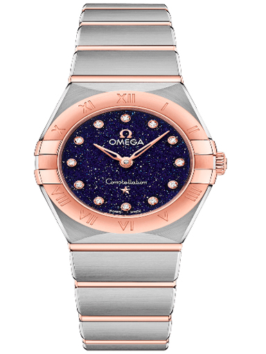Omega Constellation Steel - Sedna Gold Blue Diamonds Dial Women's Watch-O13120256053002