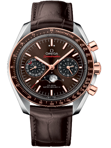Omega Speedmaster Moonphase Co-Axial Master Chronometer Chronograph Brown Dial Watch For Men-O30423445213001