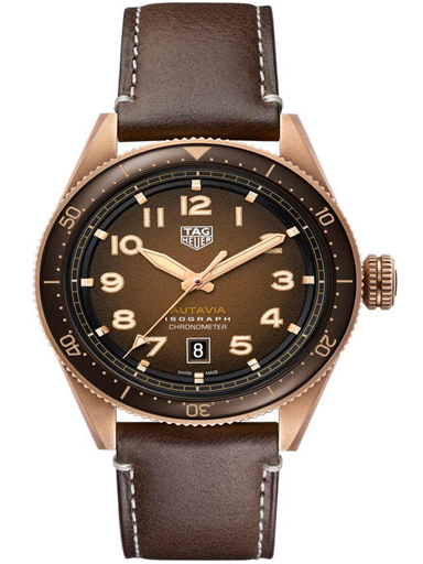 TAG Heuer Autavia Automatic Brown Dial Men's Watch-WBE5191.FC8276