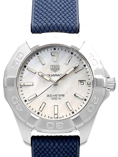 TAG Heuer Aquaracer Quartz White Mother of Pearl Dial Ladies Watch-WBD131A.FT6170