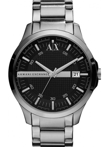 armani exchange black dial stainless steel men's watch ax2103-AX2103