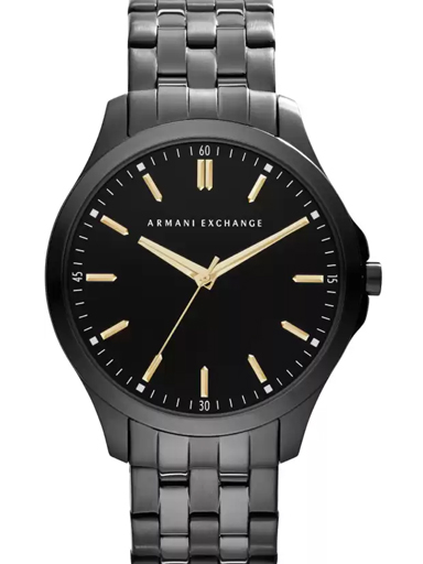 armani exchange black dial stainless steel men's watch ax2144-AX2144