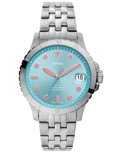 Fossil Three-Hand Date Stainless Steel Watch-ES4742I