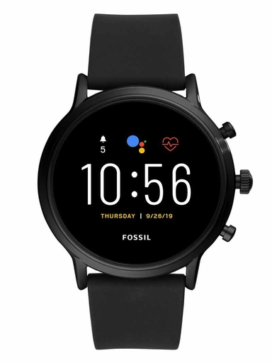 fossil gen 5 smartwatch the carlyle hr black silicone-FTW4025